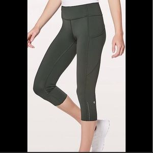 Lululemon Fast and Free Crop Tight